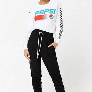 💗3for25 Pepsi Trendy Graphic Long Sleeve Top